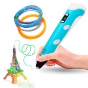 Caneta Impressora 3d Desenho Pen Filamento Pla Bivolt Azul  (BSL-HEL-1)