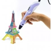 Caneta Impressora 3D Drawing Pen Desenho Display Bivolt Roxo (BSL-HEL-1 / Roxo)