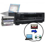 Conversor Reprodutor Fita K7 Para Pc Via Usb Formato Mp3 Dupla Entrada (TAPE2PC)