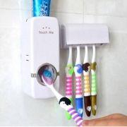 Dispenser Pasta De Dente Automatico Com Suporte Escova Cor Branca (888210)