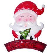 Enfeite Natal Papai Noel Rosto Para Parede Porta Natalina