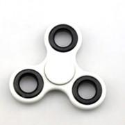 Fidget Hand Spinner Recreação Anti Estresse Ansiedade Giro Rolamento Branco (gira20)