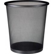 Lixeira de Aço Telada Redonda Cesto para Lixo Sala Escritorio Preta (bsl-34008-1)
