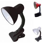Luminaria De Mesa Com Garra Presilha Articulavel Bivolt Abajur Trabalho Sala Escritorio (zem-31501)