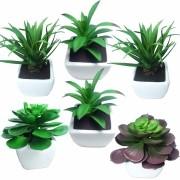 Mini Suculentas Plantas Artificiais Decorativas Com 6 Unid (SH-2 KIT6)
