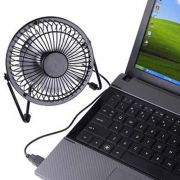 Mini Ventilador USB Potente Silencioso Portatil Notebook Computador Preto