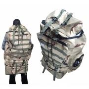 Mochila De Camping Camuflada Militar Impermeavel Para Viagem Trilha Acampamento Carga Bege (BSL-21296-7)