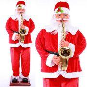 Papai Noel Gigante Musical Danca Saxofone 1 Metro e 30 cm Loja Sensor (1580)