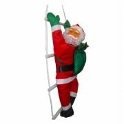 Papai Noel Subindo Escada Decoracao De Natal Grande Enfeite Natalino 74cm (BSL-36041-11)