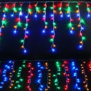 Cascata 160 Leds Pisca Pisca de Natal 3,5m Enfeite Natalino Colorido (81114)