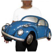 Quadro Carro Fusca 3d Para Parede Em Metal Deco Vintage Azul Retro