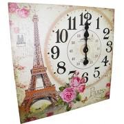 Relogio De Parede Grande Vintage Retro Decoracao Torre Eiffel Casa (XIN-05)