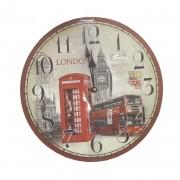 Relogio De Parede Para Decoracao Big Ben Londres Cabine 32cm (xin-01)
