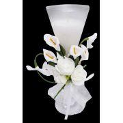 Vela Decorativa Mini 15 Anos Festa Flor Enfeite 12 Unidades