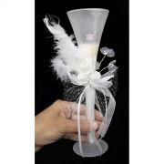 Vela Parafina Decorativa Festas Casamento 15 Anos Grande Flor Branca (WL-A)