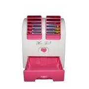 Ventilador Para Computador Pc Notebook USB Pilha Portatil Aroma Climatizador Com Agua Pequeno Cor Rosa (hb-168)