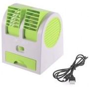 Ventilador Para Computador Pc Notebook USB Pilha Portatil Aroma Climatizador Com Agua Pequeno Cor Verde