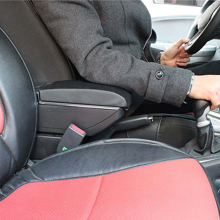 Apoio Para Braço Carro Automovel Com 4 Usb e Caixa Armazena Porta Objeto Universal Preto