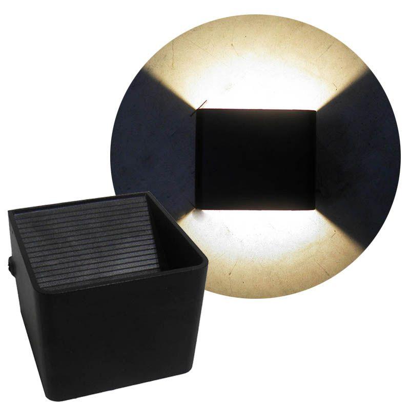 Arandela Led Kit 2 Luminarias 3w 2 Focos Branco Quente Iluminacao Casa (Zem-31578)
