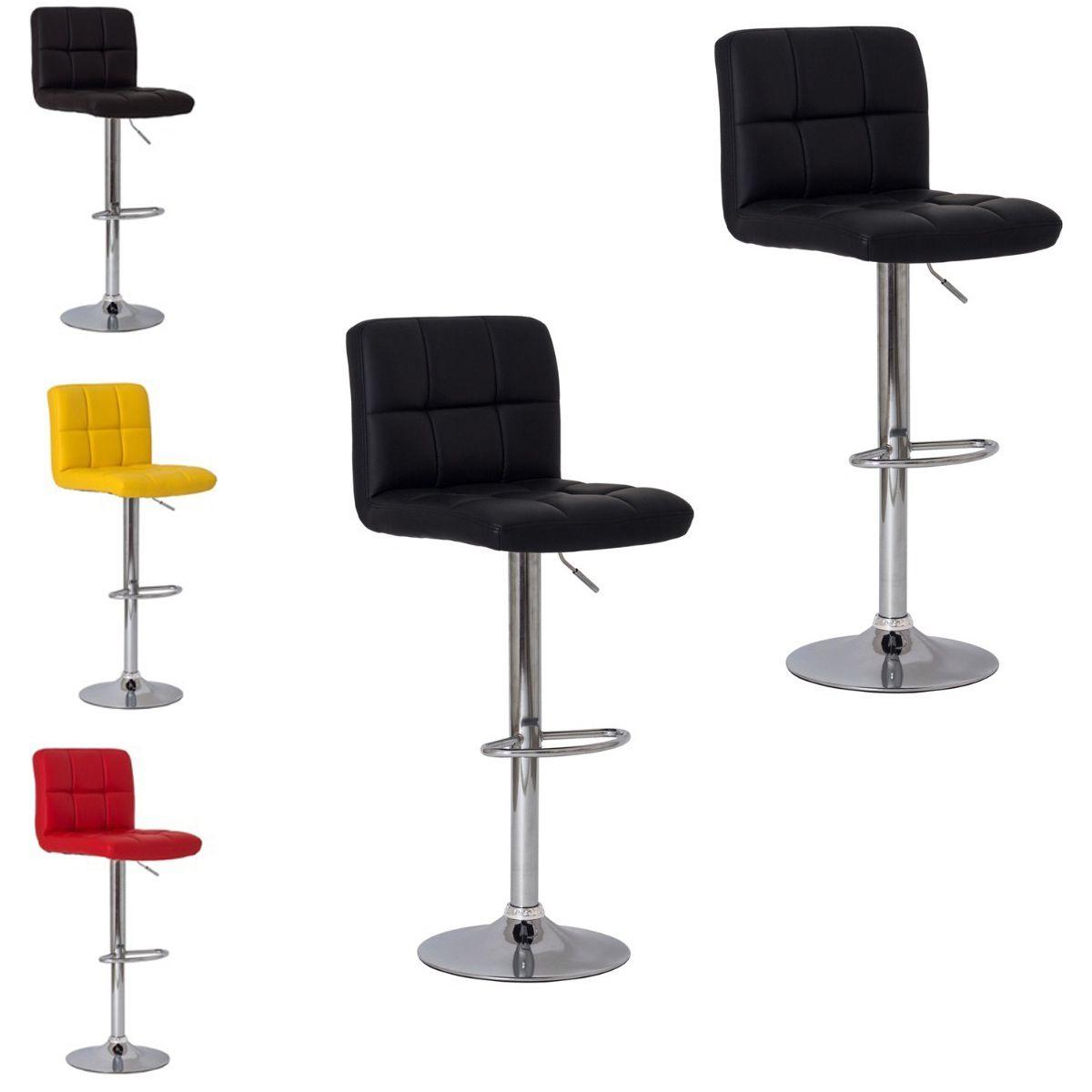 Banqueta Cadeira Confort Kit 2 Aço Couro PU Cozinha Bar Casa Decoracao