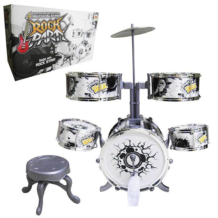 Bateria Musical Infantil Brinquedo Crianca Tambor Pedal Baquetas (DMT5367)