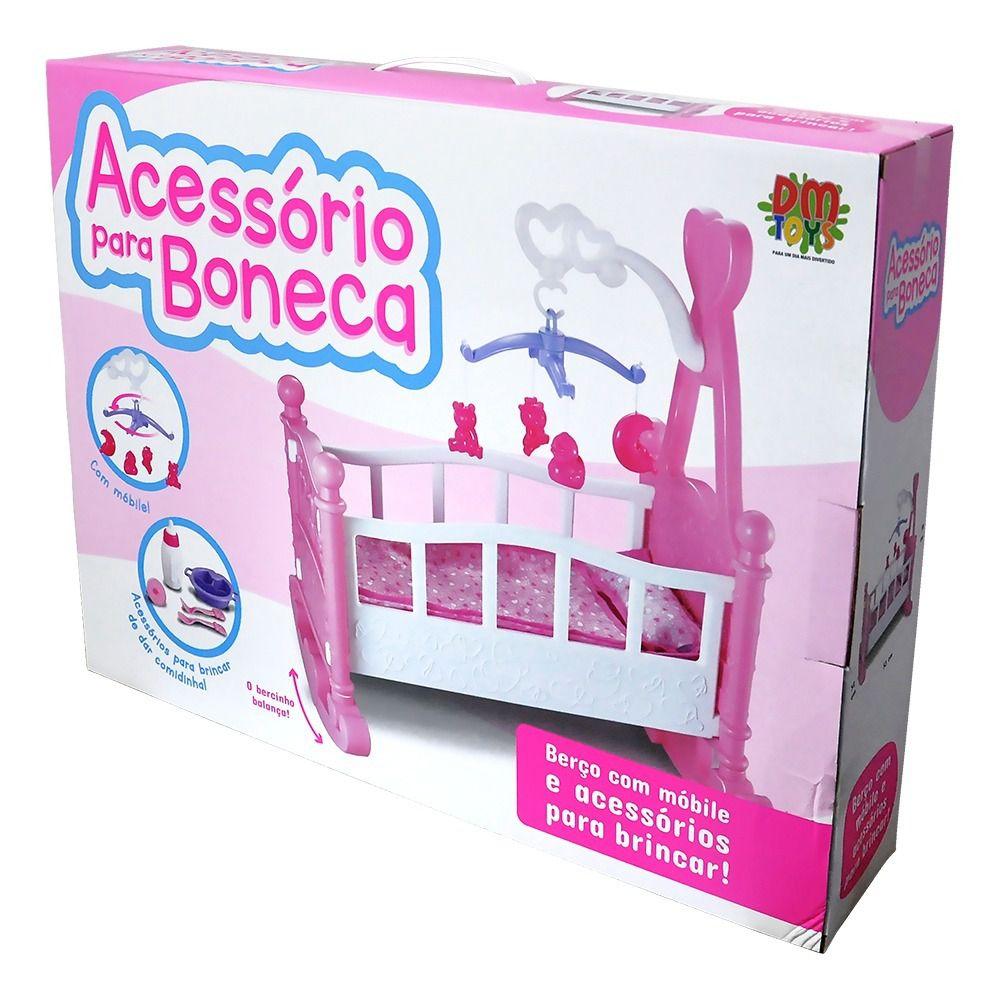 Berco Para Boneca Mobile Acessorios Comidinha Brinquedo Menina Crianca (DMT5370)