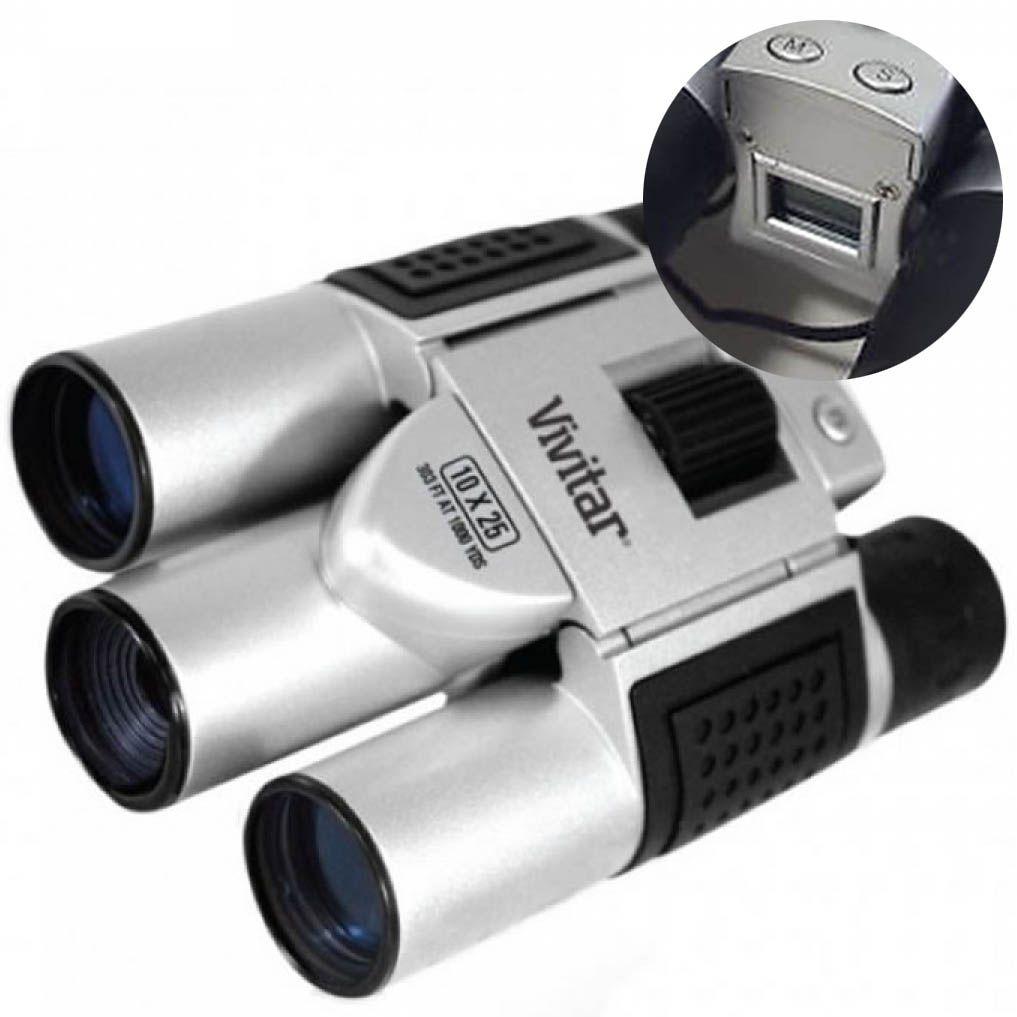 Binoculo Camera Digital Foto Lente 25mm Ampliação 10x Fotografia (VIVCV1025V)