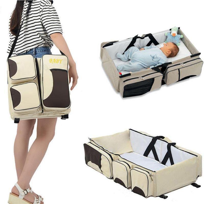 Bolsa Maternidade Cama Berço Trocador Bebe Rosa Multifunção Baby
