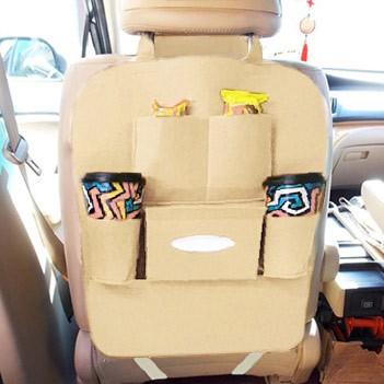 Bolsa Organizadora Para Uber e Taxi Assento De Carro Com 6 Divisorias Bege (BSL-23521-5)