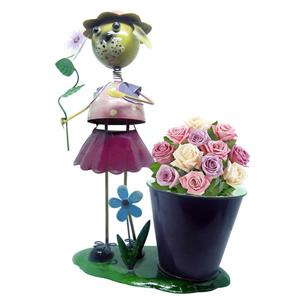 Boneca De Ferro Enfeite  de Jardim Decoraçao e Flores (BON-M-19)