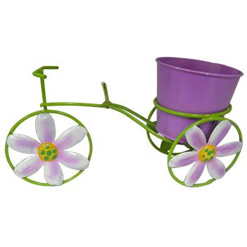 Boneca de Flor com Bicicleta Enfeite e Decoraçao Jardim Casa Flores Vaso Lilas (BON-P-11)
