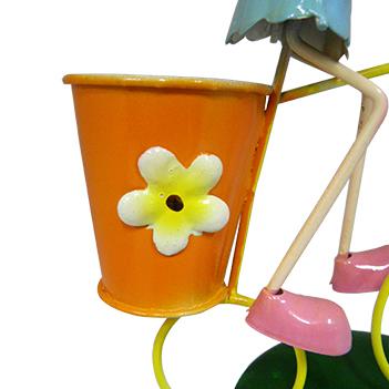 Boneca Porquinha com Bicicleta Enfeite e Decoraçao Jardim Casa Flores (BON-M-15)