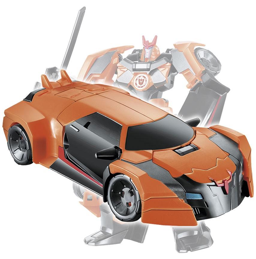Boneco Carro Corrida Transforme Robo Guerreiro Articulado Action Figure Laranja (DMT4693)