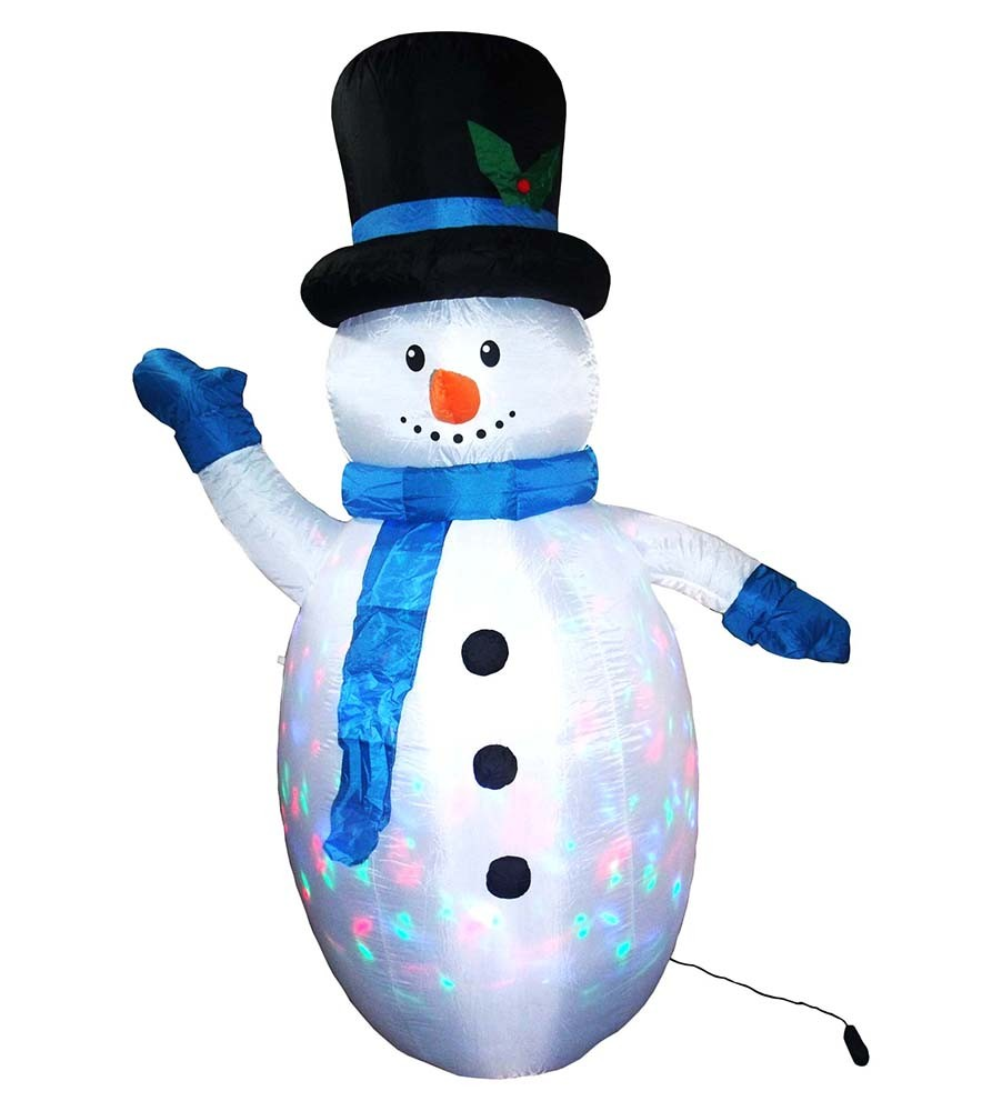 Boneco de Neve Inflavel Natal Led Colorido Enfeite Grande Decoracao Natalina