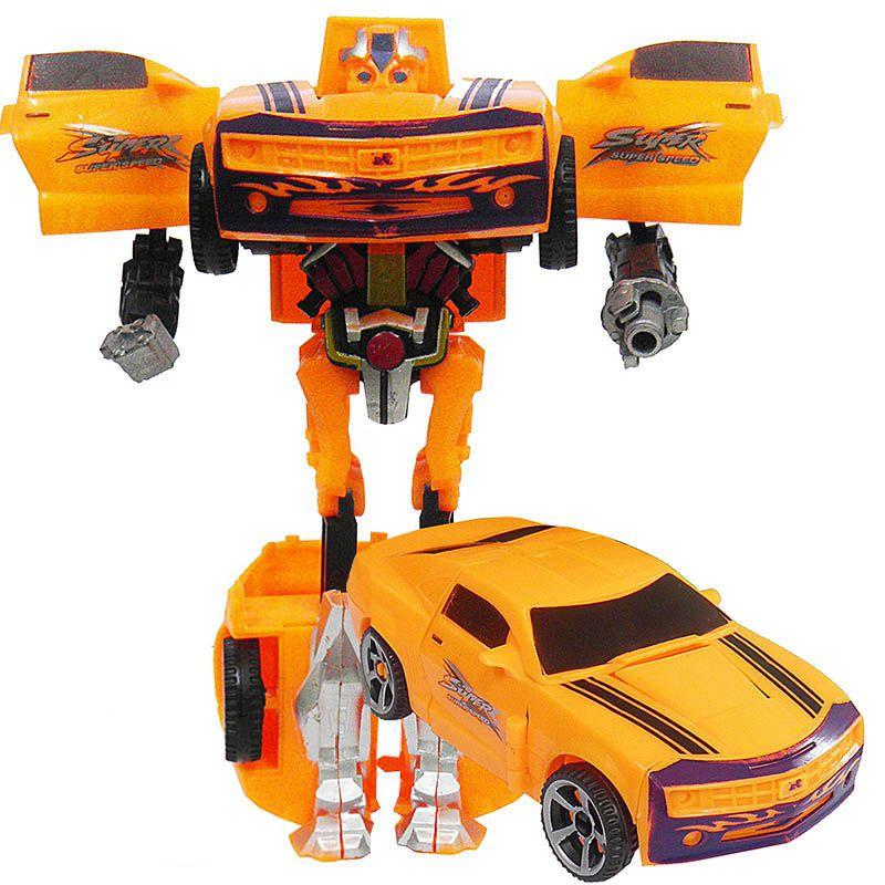 Boneco Robo Transforma Em Carro Articulavel Brinquedo Infantil (11696)