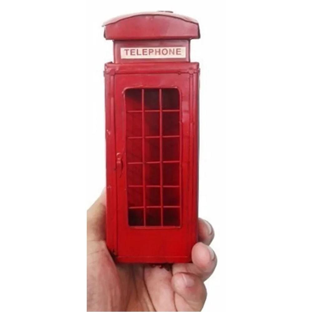 Cabine Telefonica Retro Londres Em Metal Vintage (CJ-009)