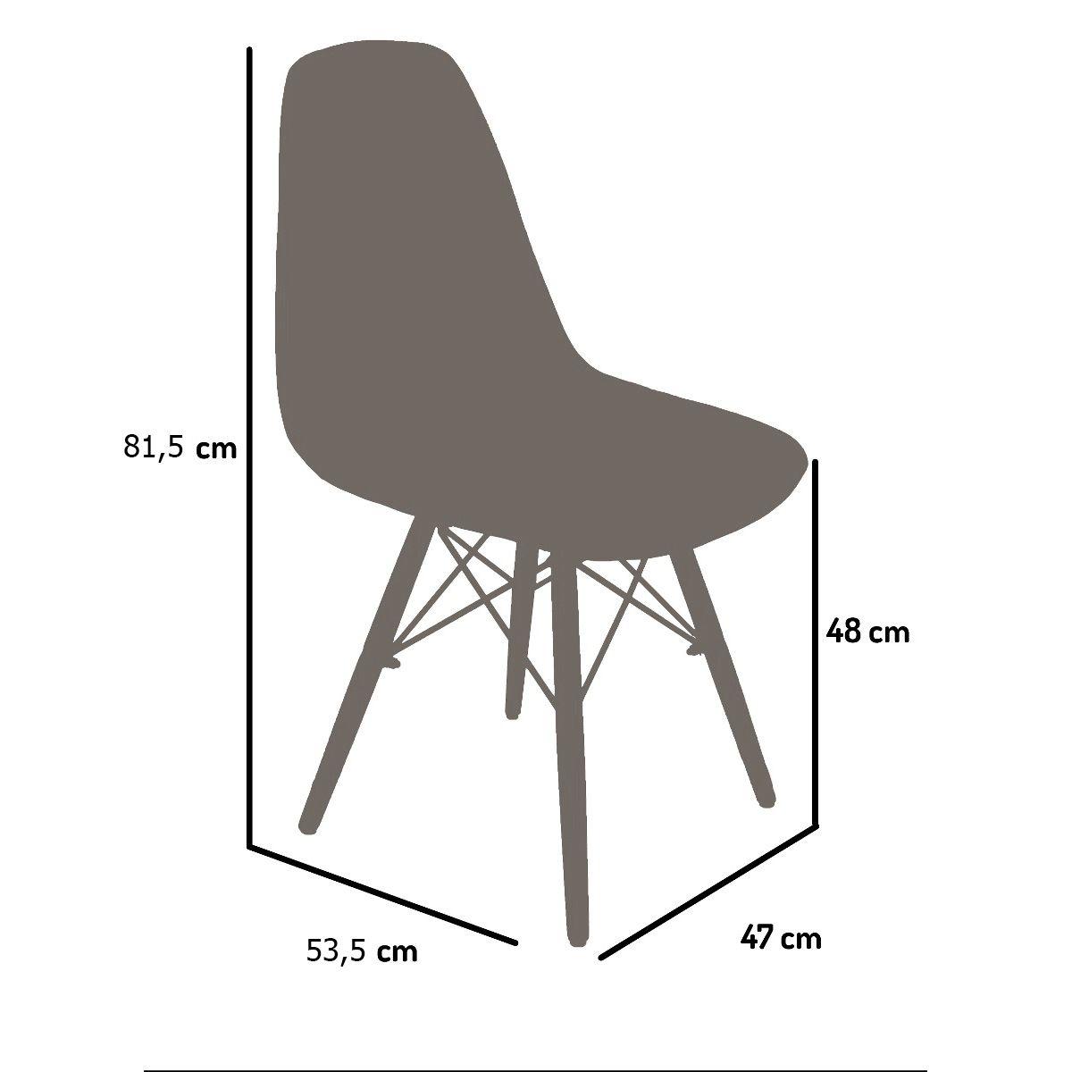 Cadeira Banqueta Casa Charles Eames Eiffel Madeira Com Encosto
