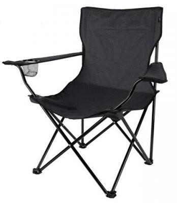 Cadeira Dobravel Braço Porta Copo Camping Pescaria Com Bolsa de Transporte Preto Kit Com 2 ML (bsl-cad-1)