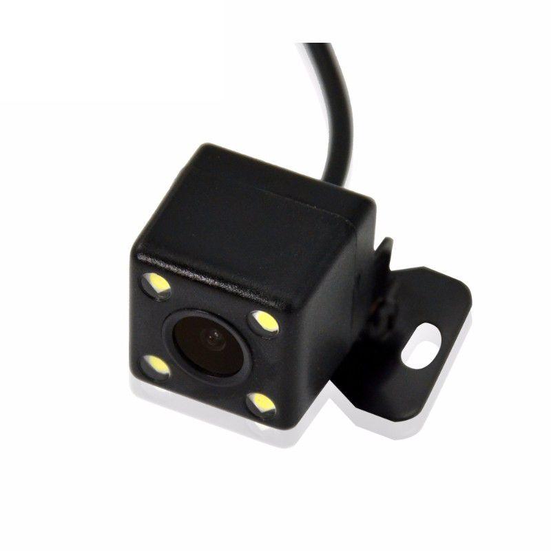 Camera De Re Veicular 4 Leds Automotiva Estacionamento Colorida