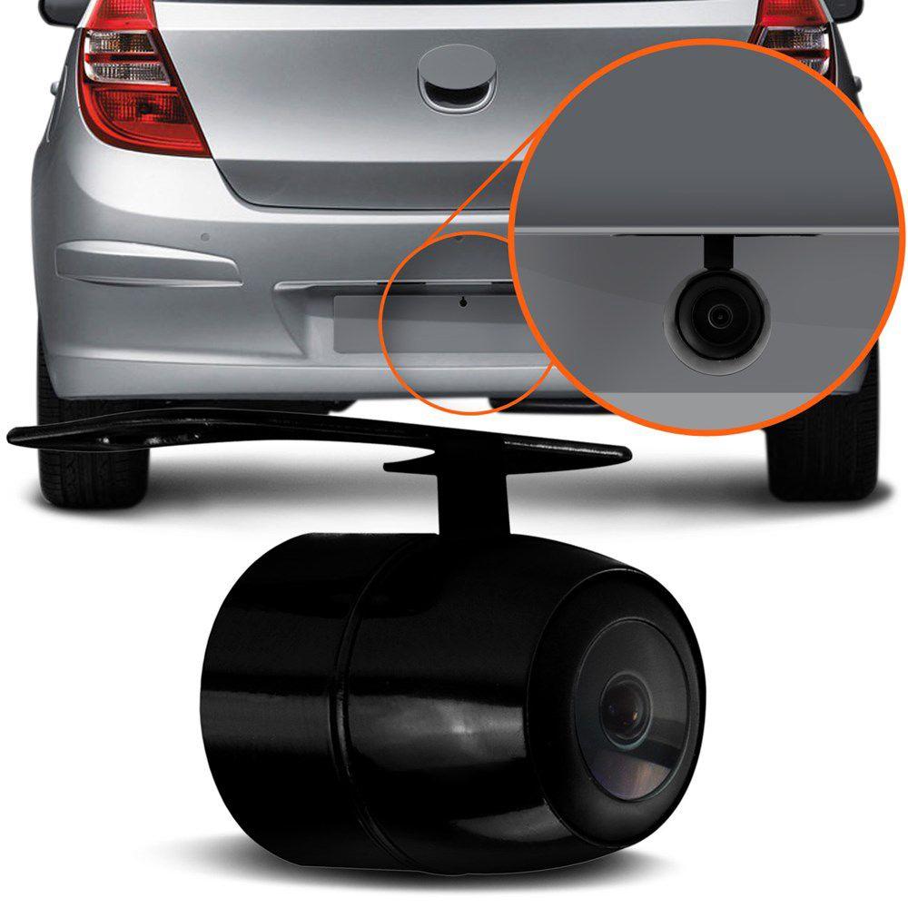 Camera De Re Veicular Para Choque Automotiva Estacionamento Colorida