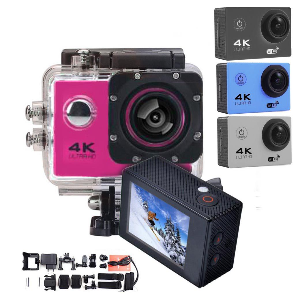 Camera Wifi Filmadora Ultra Hd 16 mp Prova D agua Video Foto Acessorios (RC439)