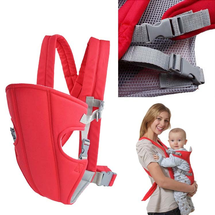 Canguru Carregador de Bebe Ergonomico Criança Baby Bag Passeio Vermelho ( MC40524)