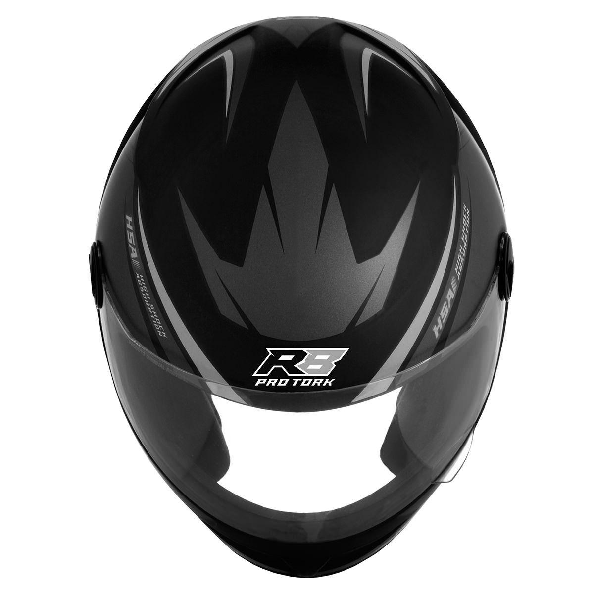Capacete Fechado Moto Prata Motoqueiro New Liberty Four R8 Esporte Acessorios (New Four R8)