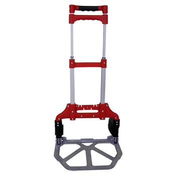 Carrinho de Mao Dobravel de Aluminio com Capacidade ate 80kg Carga Transporte Feira Vermelho (SU9626)