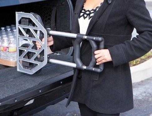 Carrinho de Transporte Dobravel Aluminio Carga Feira Ate 80kg Cor Preto (BSL-CAREA-4)