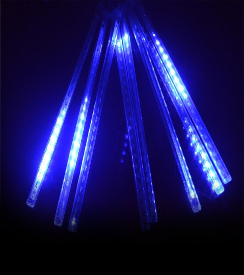 Cascata 8 Tubos Chuva de Gelo 96 LEDs Natal Pisca Pisca SnowFall Azul (NTN296CBV)