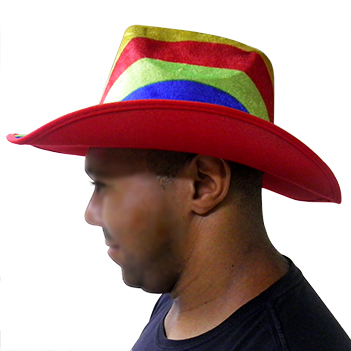 Chapeu Cowboy Kit Com 3 Colorido Festa Carnaval Fantasia Baile