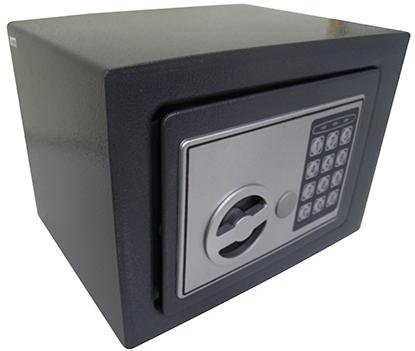 Cofre Eletronico Segredo Com 2 Chaves E Teclado Numerico Preto