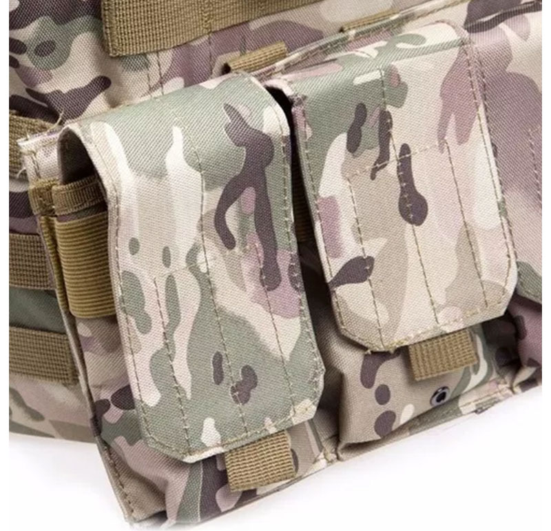 Colete Militar Tático Paintball Camuflado Multicam Airsoft (BSL-21296-5)