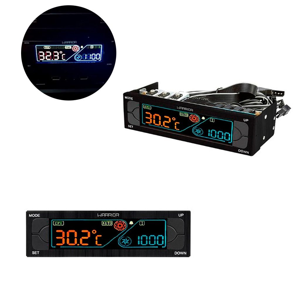 Controlador de Cooler Fan Pc Gamer Jogos Alarme de Temperatura